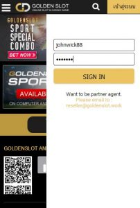 goldenslot login
